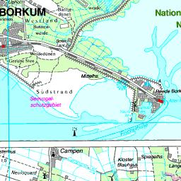 Borkum Karte Strassen.Alter Hafen Reede Borkum