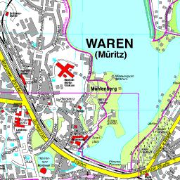 Mecklenburgische Seenplatte Karte Pdf.Stadtplan Waren Müritz