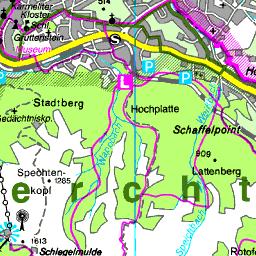 Berchtesgadener Land Karte.Karte Berchtesgadener Land