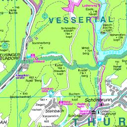 Werratal Radweg Karte.Werratal Radweg Sachsenbrunn