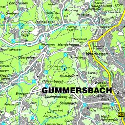 Karte Oberbergischer Kreis
