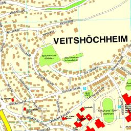 Landkreis Würzburg Karte.Ortsplan Veitshöchheim