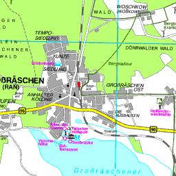 Lausitz Karte.Karte Oberspreewald Lausitz