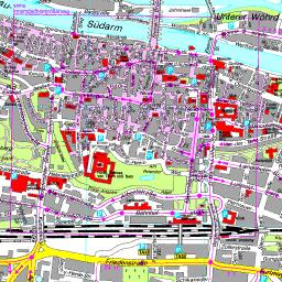 Karte Regensburg Altstadt.Stadtplan Regensburg