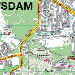 Historische Karte Potsdam.Stadtplan Potsdam