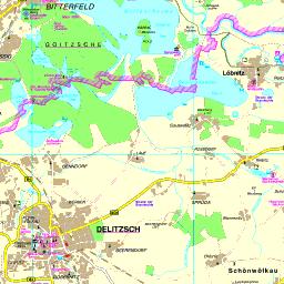 leipziger neuseenland karte Karte Leipziger Neuseenland