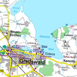 Greifswald Karte.Karte Vorpommern Greifswald