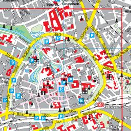 Karte Paderborn.Stadtplan Paderborn