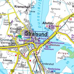 Stralsund Karte.Karte Vorpommern Rügen