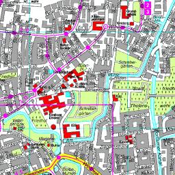 Borkum Karte Strassen.Stadtplan Emden