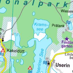 Karte Seen Mecklenburgische Seenplatte.Karte Mecklenburgische Seenplatte Gebiet Süd