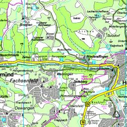 Ostalbkreis Karte.Karte Ostalbkreis