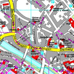 Karte Bamberg Landkarte.Stadtplan Bamberg