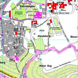 Karte Würzburg Und Umgebung.Stadtplan Würzburg