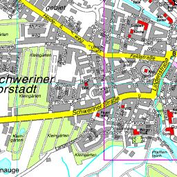 Güstrow Karte.Stadtplan Barlachstadt Güstrow
