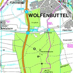 Karte Landkreis Wolfenbuttel