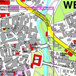 Karte Weimar Und Umgebung.Stadtplan Weimar