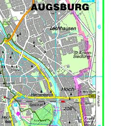 Karte Augsburg.Karte Augsburg