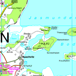 Karte Rügen.Karte Rügen